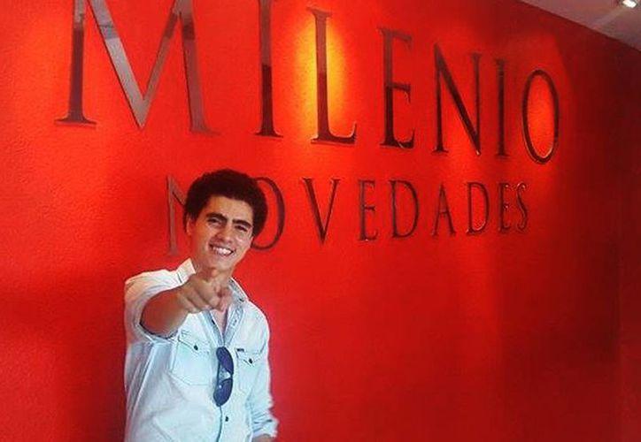 """El joven actor de la telenovela """"Mi Amor es Tuyo"""" se dijo sorprendido de sus fans yucatecas. (Milenio Novedades)"""