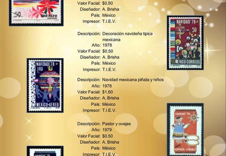 El palacio Postal puso un árbol donde exhibe 81 estampillas de la Navidad Mexicana que ha emitido desde 1977. (correosdemexico.gob.mx)