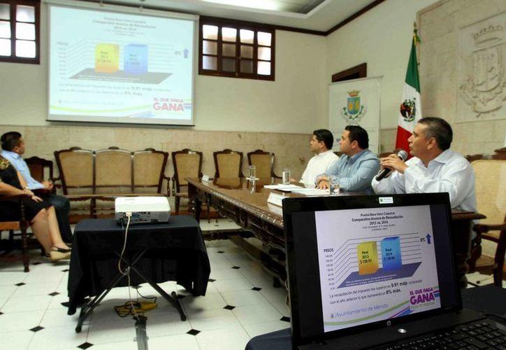 El Ayuntamiento de Mérida informa que en el primer trimestre del año se recaudó ya el 78% de la meta del predial de todo el año. (Cortesía)