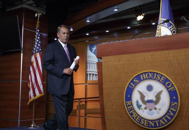 El presidente de la Cámara de Representantes, John Boehner, dijo que Obama 'ofendió al pueblo estadounidense' con su acción unilateral. (AP)