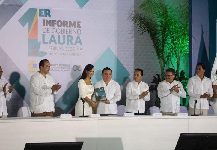El informe se llevó a cabo durante la Tercera Sesión Solemne de Cabildo. (Karim Moisés/SIPSE)