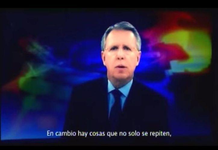 El spot donde aparecía la imagen del periodista Joaquín López-Dóriga fue transmitido al inicio de las precampañas electorales. (Captura de pantalla/YouTube)