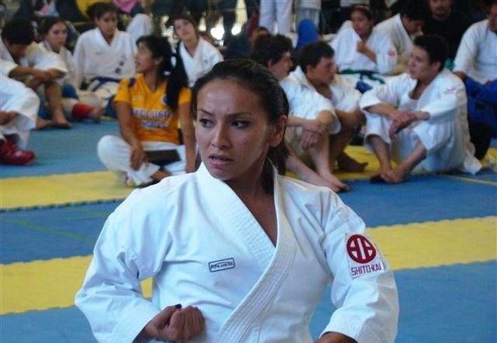 Abigail Salas Bojórquez, ganadora del premio Mérito Deportivo 2013, lleva buen paso en la Universiada. (Milenio Novedades)