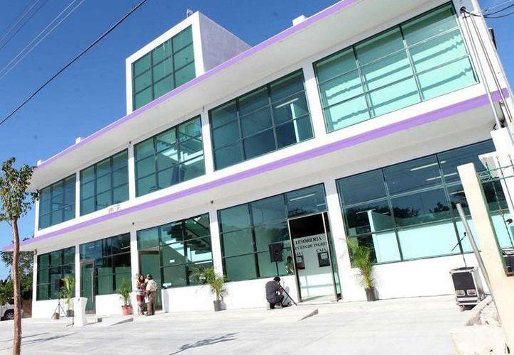 La reunión se realizó al interior del Palacio Municipal de Puerto Morelos. (SIPSE)