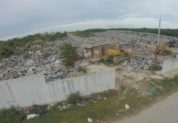 El basurero de Chetumal recibe diariamente alrededor de 300 toneladas de desechos y 340 toneladas en días pico. (Ángel Castilla/SIPSE)