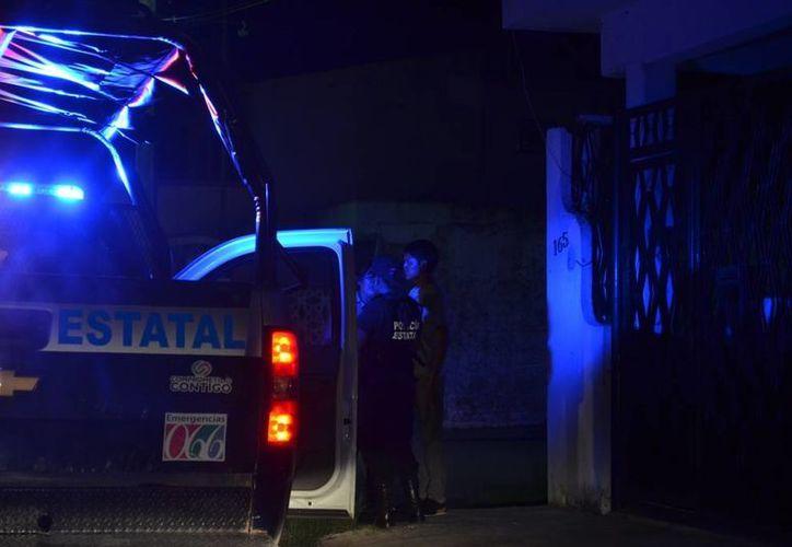 Los elementos policíacos no lograron dar con el reponsable. (Redacción/SIPSE)