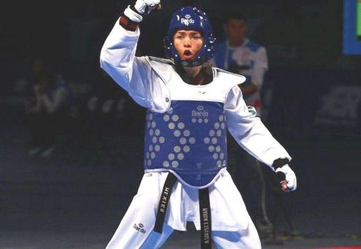 La taekwondoín María del Rosario Espinoza fue al Abierto de Holanda en busca de los 20 puntos del evento de categoría G2, luego de ganar medalla de oro en Las Vegas. (deporte.gob.mx)