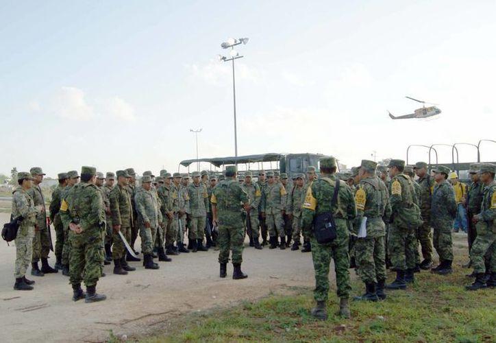 La Secretaría de la Defensa Nacional mantiene activos a 90 elementos. (Redacción/SIPSE)
