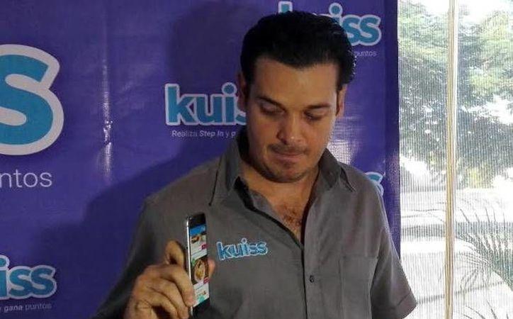 Simón Cáceres, director de la app Kuiss, dijo que la plataforma ya cuenta con poco más de tres mil usuarios registrados en Mérida. (Milenio Novedades)