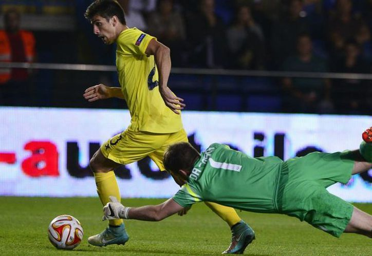 Gerard Moreno fue el autor del gol del triunfo para Villarreal en el partido de vuelta de cuartos de final de Copa del Rey contra Getafe. Ahora el 'submarino amarillo' chocará contra Barza. (goal.com/Foto de archivo)