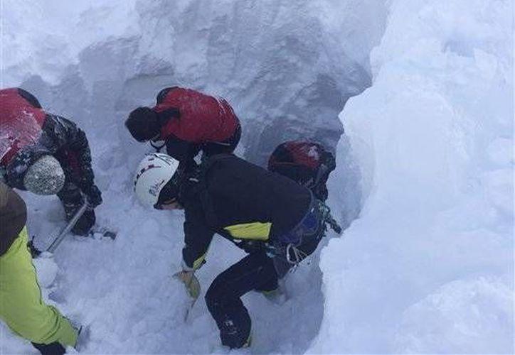 Imagen de contexto. Un joven militar fue desenterrado de la nieve, su estado es grave. (AP)