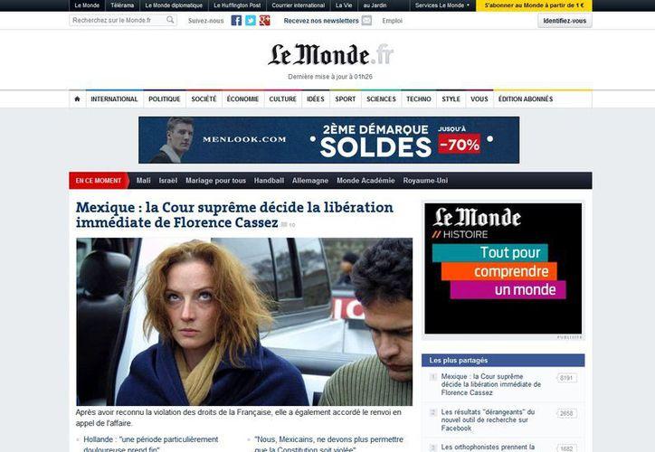 La edición digital del diario progresista Le Monde. (lemonde.fr)