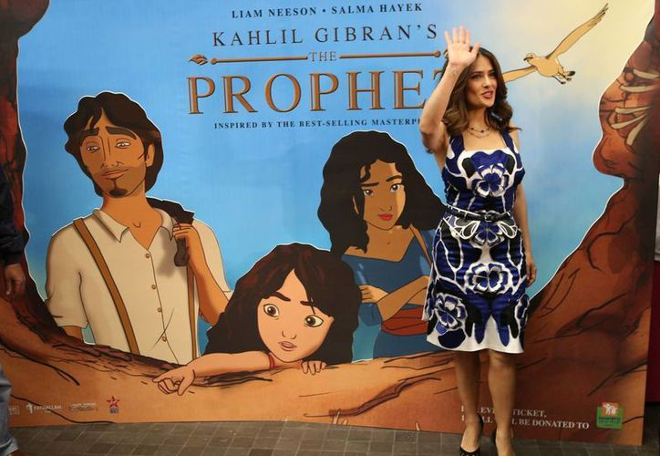 Salma Hayek se encuentra en Líbano, tierra donde nació su abuelo paterno, para el estreno y promoción de 'El Profeta'. (Foto:AP)