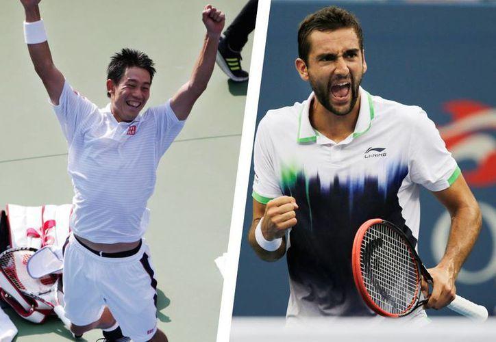 Nishikori y Cilic, disputarán una atípica final en Nueva York. (Foto: AP)