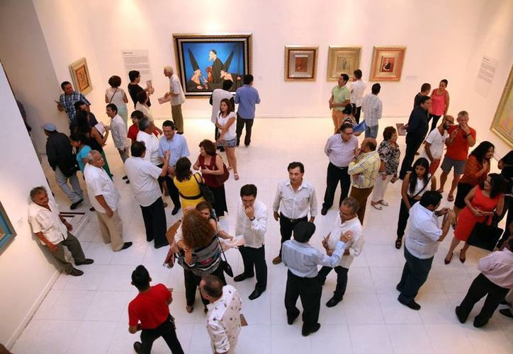 Las muestras pictóricas que se realizaron en Yucatán convocaron gran cantidad de público. (Milenio Novedades)