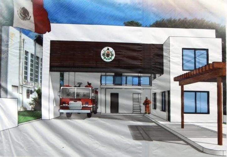 El titular de la Sintra, Fernando Escamilla Carrillo, indicó que el edificio podría estar concluido a inicios de 2015.  (Irving Canul/SIPSE)
