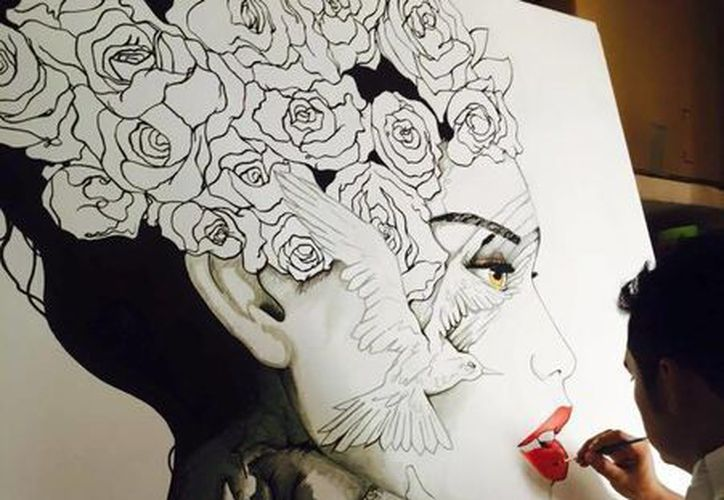 Artista plástico,  Raúl Urbina. (Alejandra Flores/SIPSE)