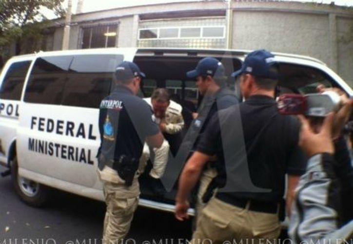 El piloto fue detenido el sábado pasado por agentes de Interpol-México. (Jorge Becerril/Milenio)