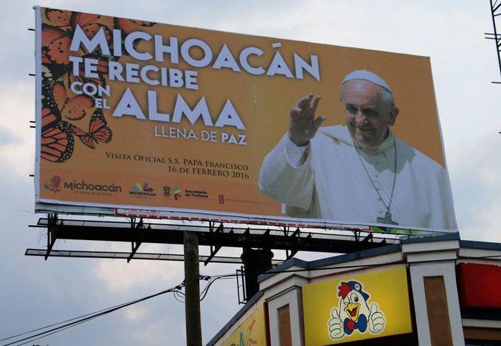 El papa Francisco visitará el estado de Michoacán como parte de su gira por la República Mexicana. Llega el 12 de febrero. (Notimex)
