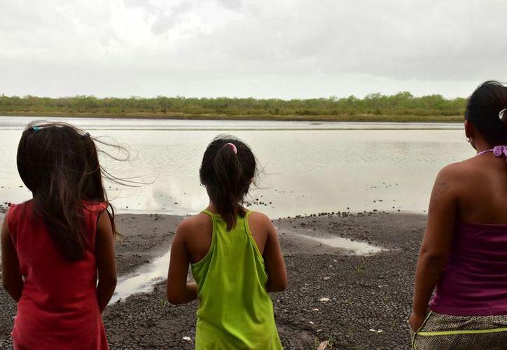 Habitantes señalan que les preocupa que el cuerpo lagunar se esté secando pues de él se abastecen de agua. (Redacción/SIPSE)