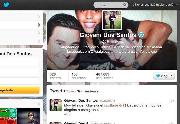 En su cuenta de Twiter, 'Gio' hizo público su cambio al Villarreal. (@OficialGio)