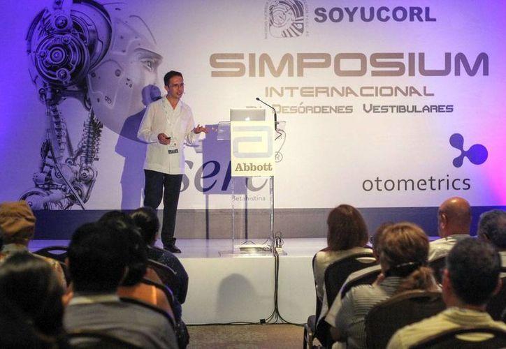 Simposio Internacional en Desórdenes Vestibulares, evento que reunió a profesores nacionales e internacionales reconocidos por su alta calidad en el estudio y tratamiento del vértigo. (Amílcar Rodríguez)