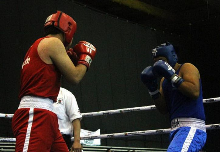 Los encuentro de boxeo de la Olimpiadas Nacional finalizan mañana. (SIPSE)