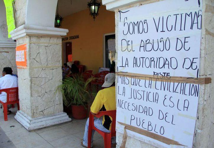 Diez ciudadanos de la comisaría de Pisté demandan juicio político. (SIPSE)