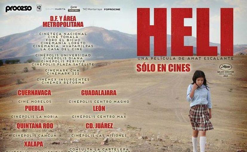 """Largometrajes como """"Heli"""" fueron apoyados con el estímulo del Foprocine en 2012.  (Facebook/HELI-La Película)"""