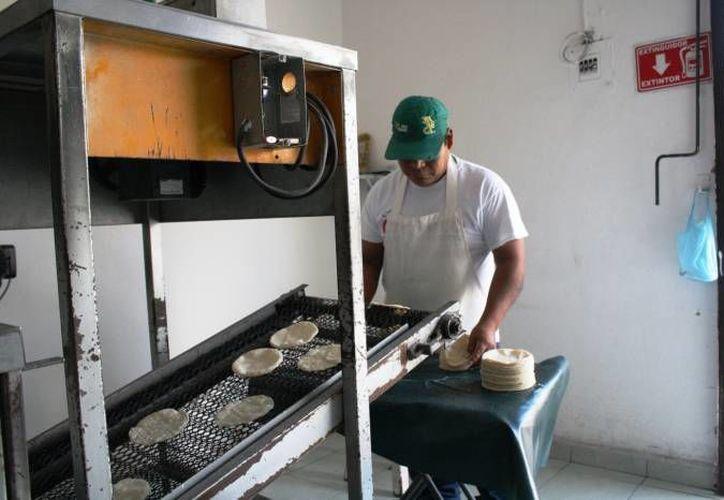 El kilo de tortilla se oferta entre 16 y 18 pesos el kilo.   (Octavio Martínez/SIPSE)
