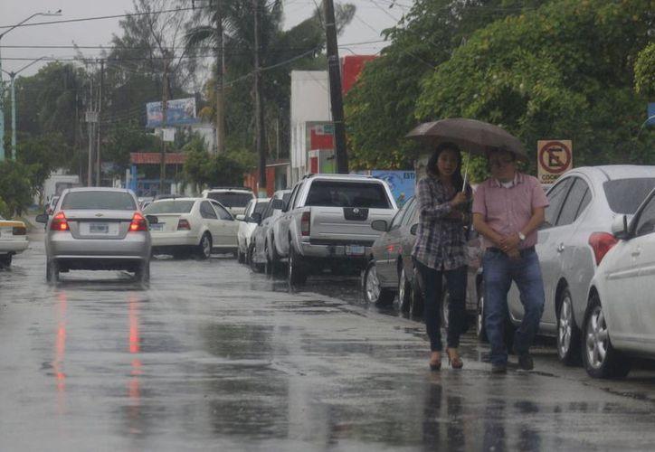 Las lluvias que se presentaron el miércoles fueron más intensas en la zona sur del Estado. (Harold Alcocer/SIPSE)