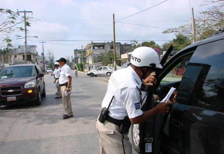 La dirección de Tránsito ha dejado de percibir hasta tres millones 427 mil 200 pesos, de enero a la fecha. (Archivo/SIPSE)