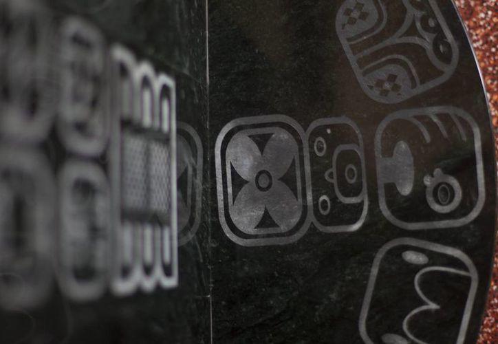 """Fotografía del detalle de una """"cápsula del tiempo"""", que las autoridades inauguraron y sellaron en el Palacio Nacional de la Cultura de Ciudad de Guatemala. (EFE)"""