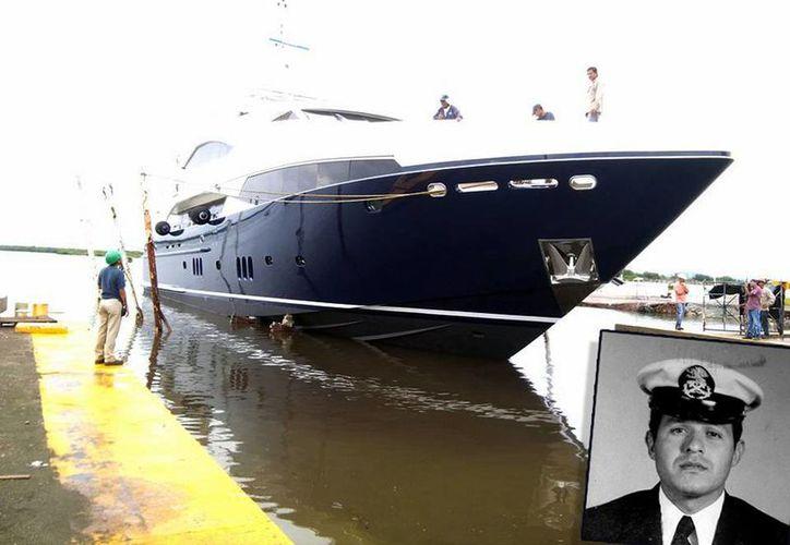 """Uno de los yates construidos en SIN, el astillero de Mazatlán que """"puso a flote"""" un grupo de marinos mexicanos. En el recuadro, nuestro entrevistado, Jorge Lara Naranjo. (Fotos: Cortesía JLN)"""