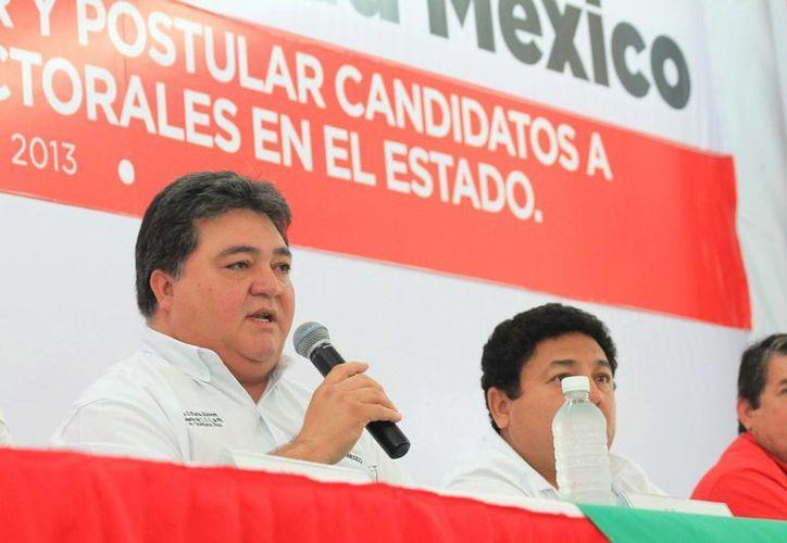 Pedro Flota celebró que exista convicción, madurez y civilidad política en su partido. (Redacción/SIPSE)