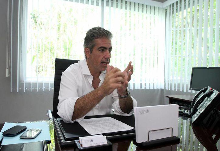 El delegado de la Profepa en Yucatán, José Lafontaine Hamui, en entrevista. (Jorge Peña/SIPSE)