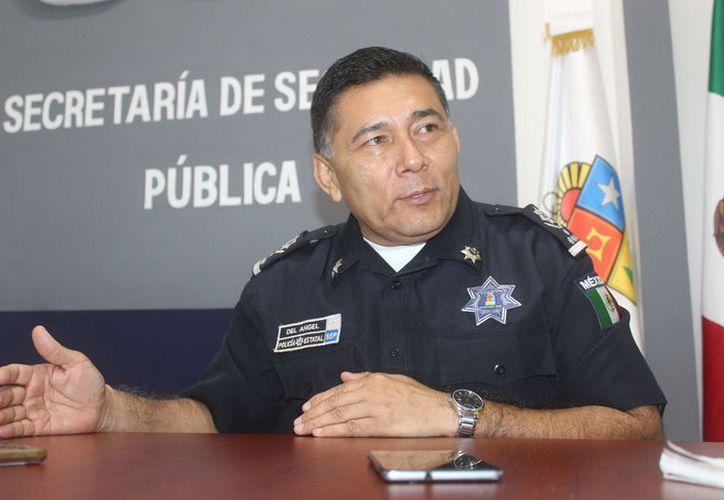 Rodolfo del Ángel Campos, secretario de Seguridad Pública en el estado, explicó que con las estrategias que se implementan, y las que están por aplicarse, se fortalece la seguridad en todos los municipios. (Sara Cauich/SIPSE)
