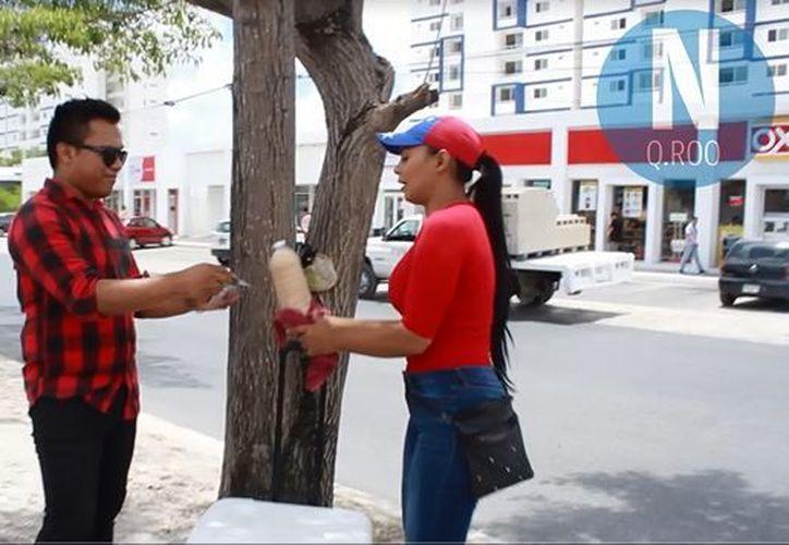 La joven venezolana se encuentra en la avenida Nichupté de Cancún. (Redacción)