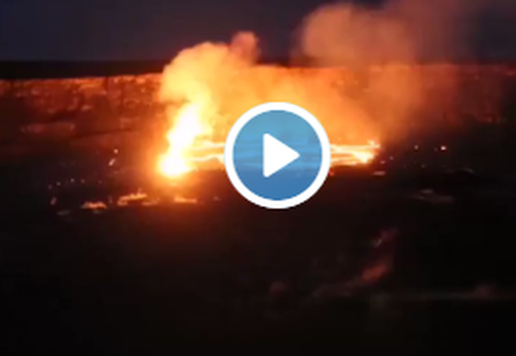 Imágenes de medios locales mostraban corrientes de lava que serpenteaban a través de los bosques. (RT)