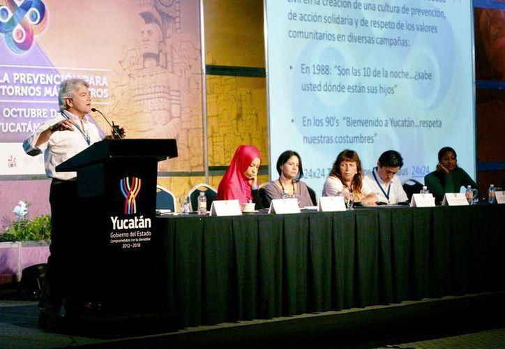Mario Ancona Teigell habló sobre la cultura de la prevención. (Wilbeth Argüelles/Milenio Novedades)