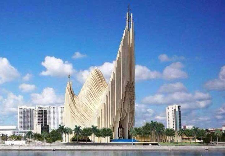 La basílica se ubicará en el Malecón Tajamar. (Redacción/SIPSE)