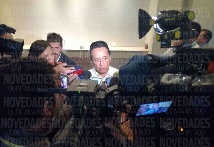 Carlos Joaquín González, gobernador de Quintana Roo, estuvo presente en la asamblea de la OEA. (Israel Leal/SIPSE)