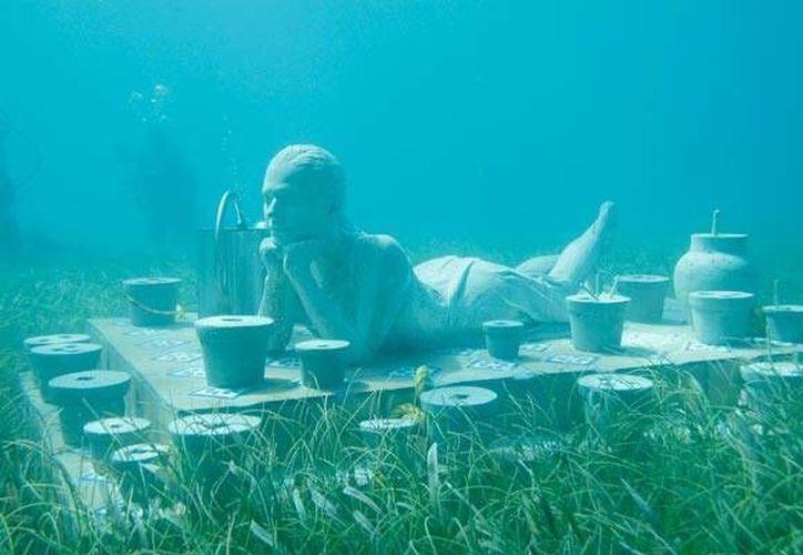 Promueven el Museo Subacuático de Arte en Inglaterra. (Israel Leal/SIPSE)