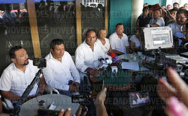El candidato Juan Carrillo Soberanis dio a conocer su preocupación ante medios de comunicación. (Jesús Tijerina/SIPSE)