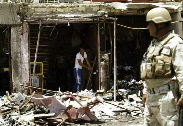 Las fuerzas de seguridad iraquíes son blanco favorito de los insurgentes sunís. (EFE/Contexto)