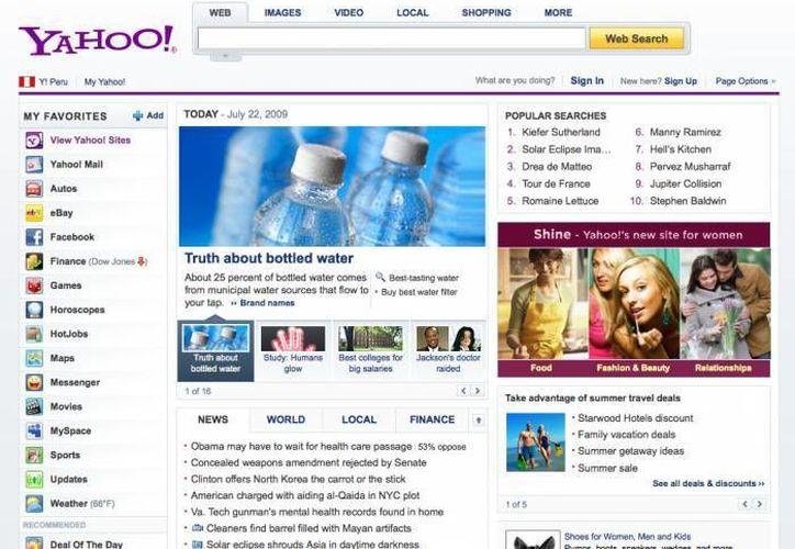 Yahoo ofrece el segundo servicio de correo electrónico más grande del mundo, solamente detrás de Gmail. (Archivo/SIPSE)