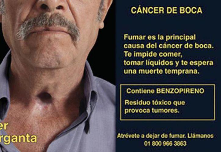 Los mensajes sanitarios y pictogramas del presente acuerdo deberán aparecer en cada marca de productos de tabaco que se fabrique, produzca o importe en México. (cenadic.salud.gob.mx)