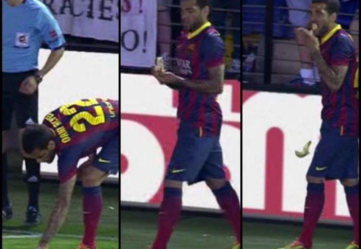 El club aseguró que rechaza cualquier acto racista, como el que le hicieron a Dani Alves en Barcelona. (Milenio)