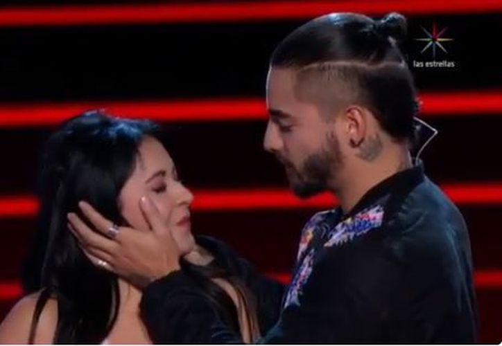La concursante que recibió el beso de Maluma, forma parte de su equipo. (Foto: Captura)