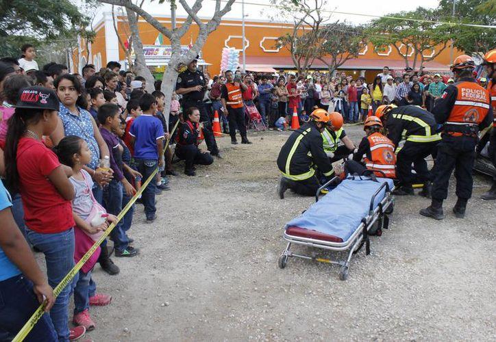 La Policía Federal realizó un simulacro de rescate y salvamento. (Foto: Cortesía)